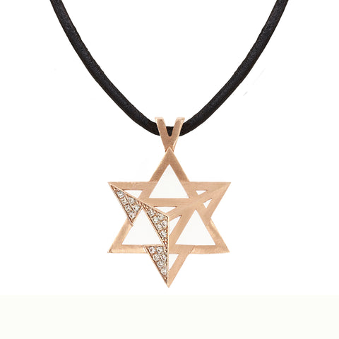 Merkavah Pendant set with Diamond - Chaya & Raphael's Galleries