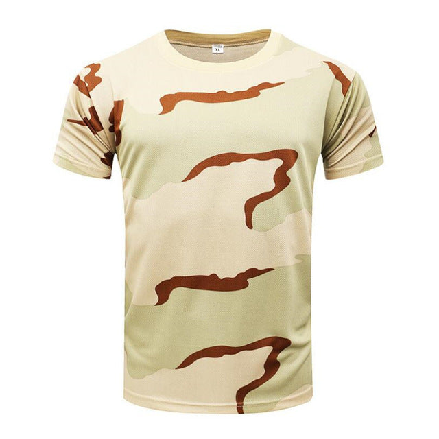 New Summer Military Camouflage Men T-shirt Casual Tactical Army Combat O Neck T Shirt Men Quick Dry Short Sleeve Camo Clothing