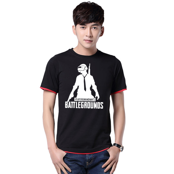 2017 Game Playerunknown's Battlegrounds Title Cotton O-Neck Mens Casual Short Sleeve T-shirts Tee Shirts Tops Clothing