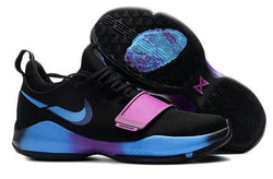 "PLAYER EXCLUSIVE PAUL GEORGE NIKE PG1 ""Cracked Swoosh""-MEN-Black/Blue/Purple 