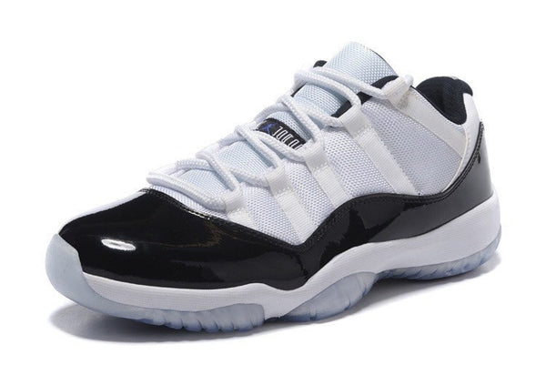 AIR JORDAN RETRO XI LOW-MEN-White/Black/Dark Concord - CYBASKETBALL