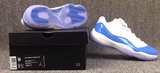 AIR JORDAN 11 LOW COLUMBIA BLUE-MEN-White/University Blue - CYBASKETBALL