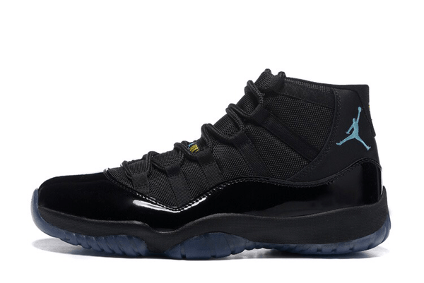 AIR JORDAN 11 GAMMA BLUE NIKE-MEN-Black/Gamma Blue/Varsity Maize - CYBASKETBALL