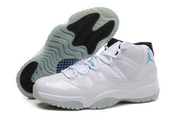 "AIR JORDAN 11 ""LEGEND BLUE""-MEN-White/Black/Legend Blue - CYBASKETBALL"