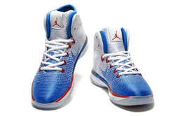 "AIR JORDAN 31-""USA"" Olympic-MEN-White/University Red-Deep Royal Blue - CYBASKETBALL"