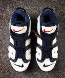 "NIKE AIR MORE UPTEMPO ""OLYMPIC""-MEN-Midnight Navy/Midnight Navy/White/Sport Red - CYBASKETBALL"