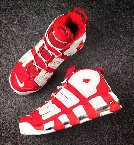SUPREME X NIKE AIR MORE UPTEMPO-MEN-Varsity Red/White - CYBASKETBALL