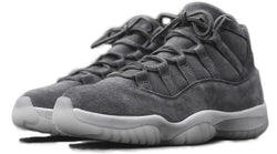 AIR JORDAN 11 PRM GREY SUEDE-MEN-Cool Grey/Sail | CYBASKETBALL