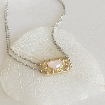 Dew Necklace In Pink Chalcedony