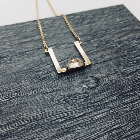 Prachi Bhise Jewelry, Geometric jewelry, Square pendant, Geometric necklace, Anya collection, Necklace with Pendant