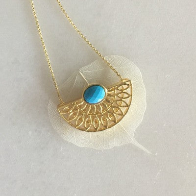 Lucca Small Necklace in Turquoise