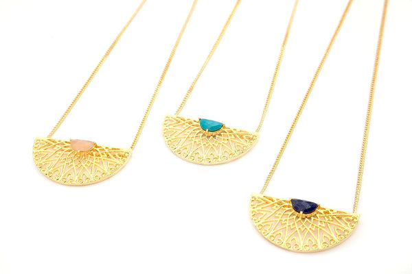 Prachi Bhise Jewelry- Lucca Large statement pendant necklaces
