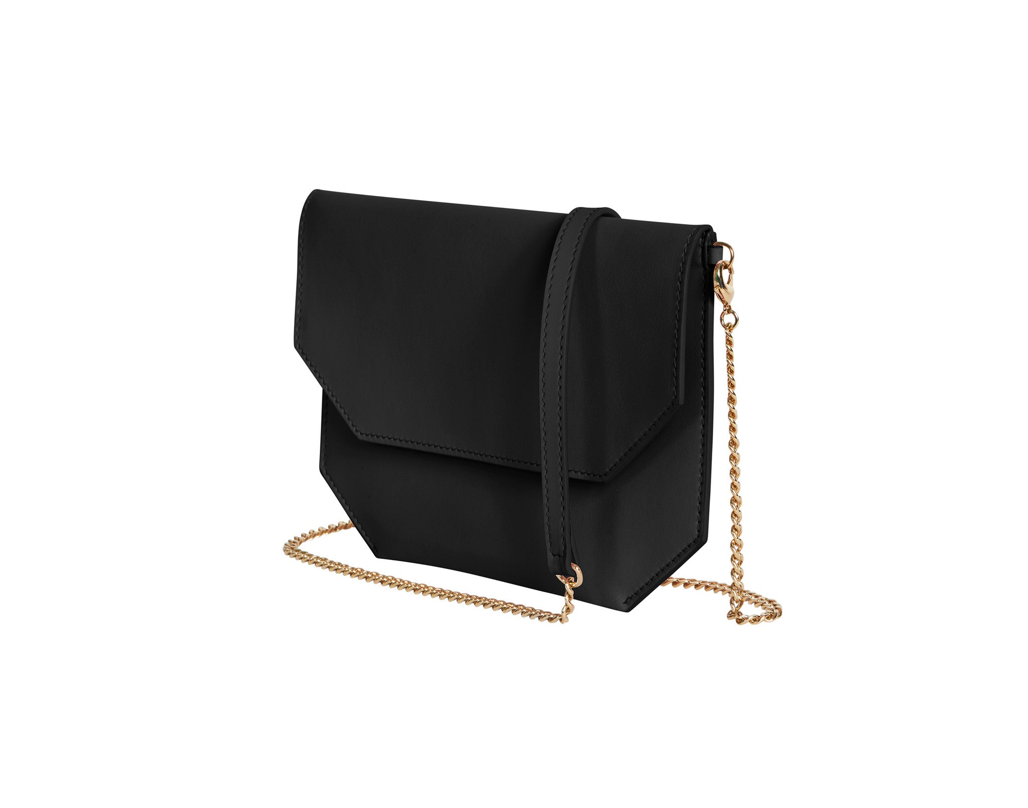 black evening bag side view