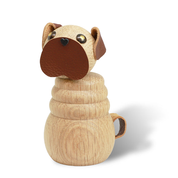 WOODEN Pug, Natural Oak