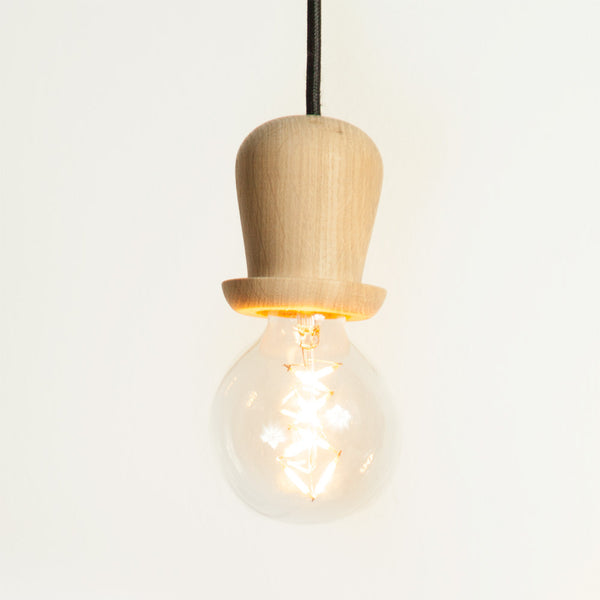 Little mr. Bulb, Bowler hat (Natural oak)