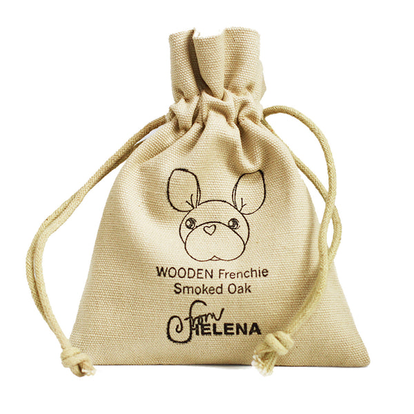 WOODEN Frenchie, Charm (Smoked Oak)