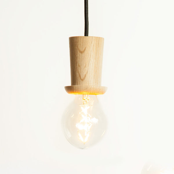 Little mr. Bulb, Skew Top Hat (Natural oak)