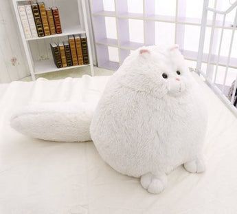 Fluffy Soft White Persian Cat With Big Tail - FREE Shipping