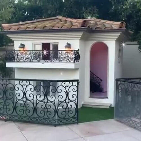Paris Hilton's doggy mansion in her Los Angeles, California home.