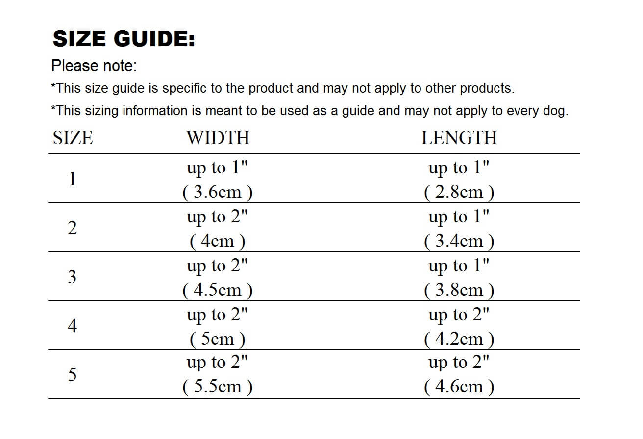 dog shoes sizing guide what size is my dog's feet