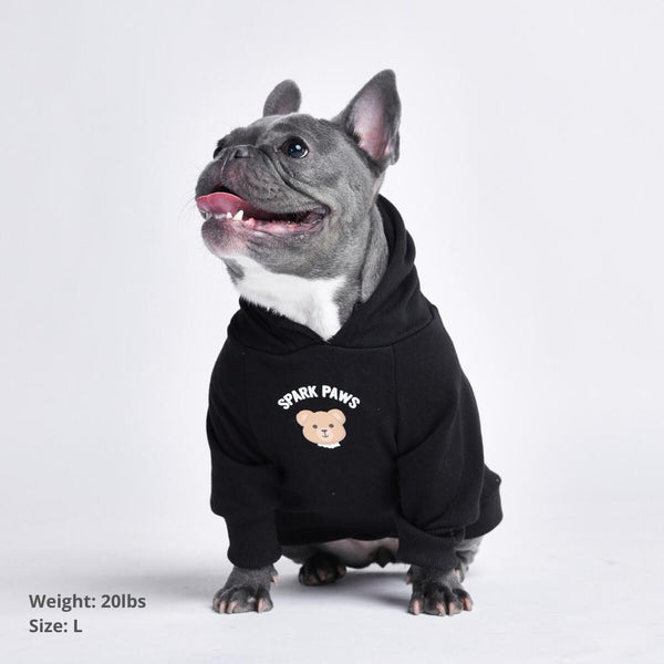 Broken Teddy Bear Dog Hoodie - Black