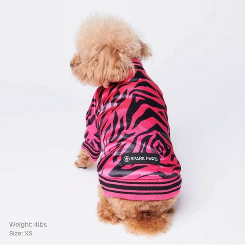 Zebra Polar Fleece Bomber Jacket