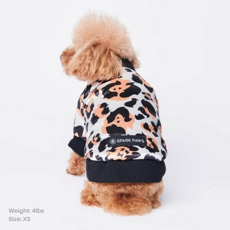 Leopard Polar Fleece Bomber Jacket