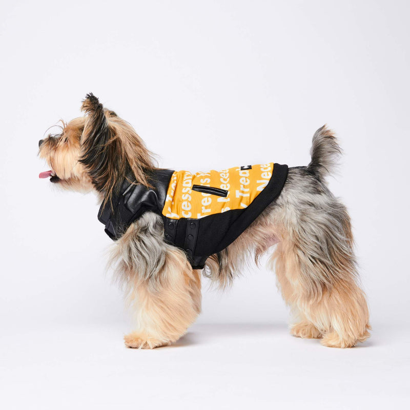 Polar Fleece Leather Racing Vest - Yellow