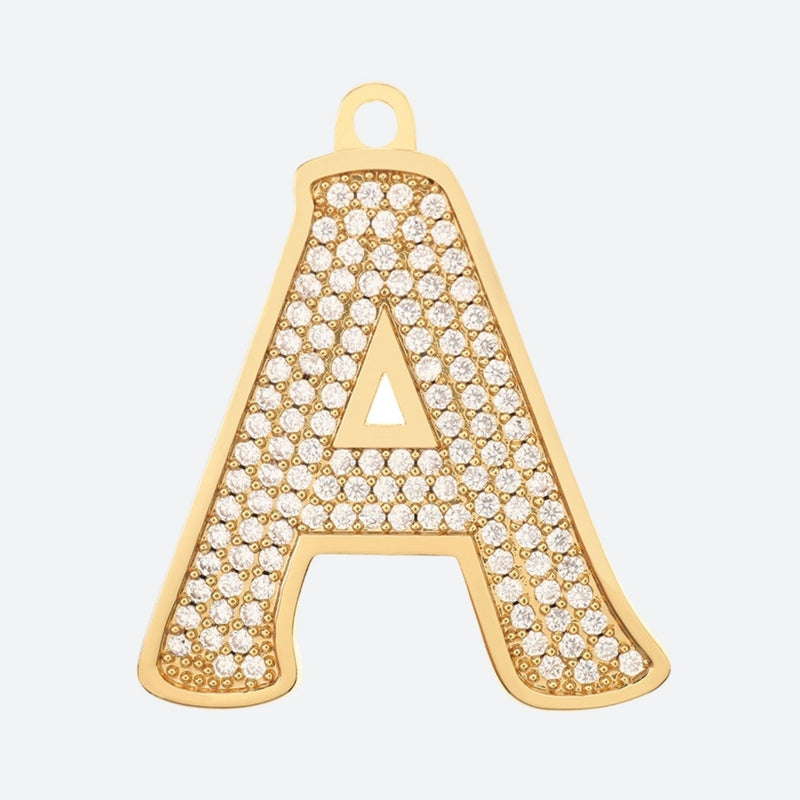 Initial Letter Jewelry Tag - A