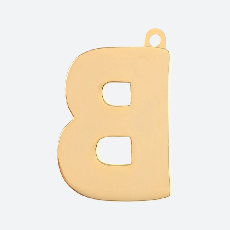 Initial Letter Jewelry Tag - B