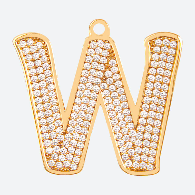 Initial Letter Jewelry Tag - W
