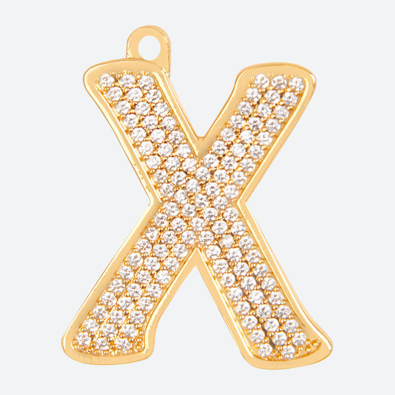 Initial Letter Jewelry Tag - X