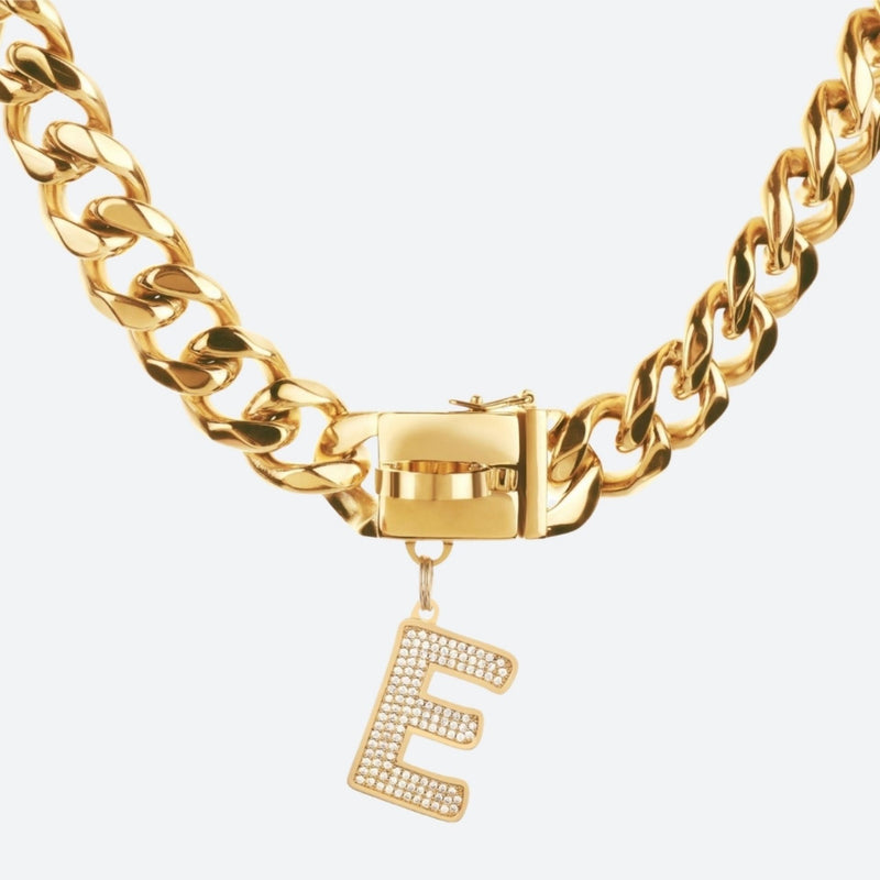 Initial Letter Jewelry Tag - E