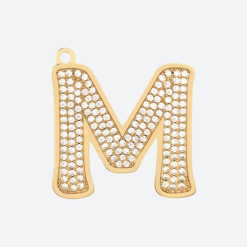 Initial Letter Jewelry Tag - M