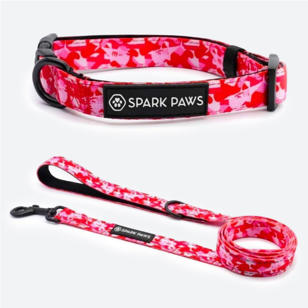 Pink Camo Collar & Leash Set