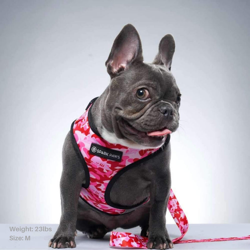 Pink Camouflage Dog Harness