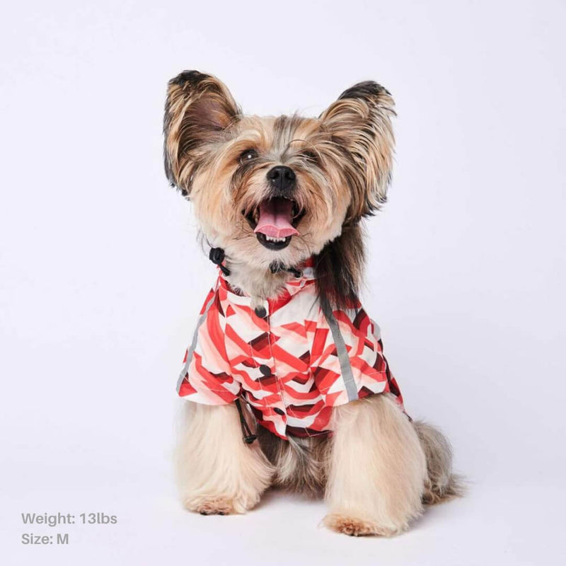 Zig-Zag Reflective Dog Raincoat