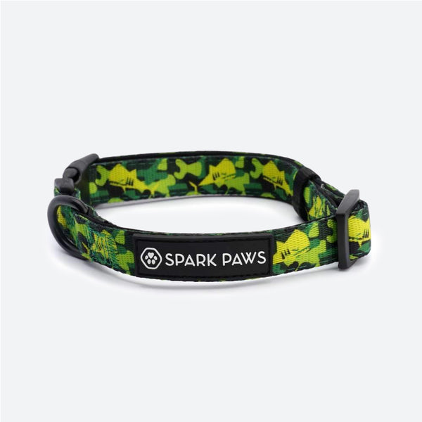 Shark Monster Collar - Green Camo