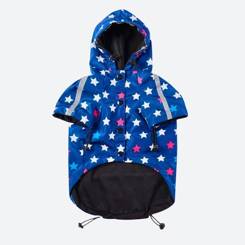 Star Print Reflective Dog Windbreaker