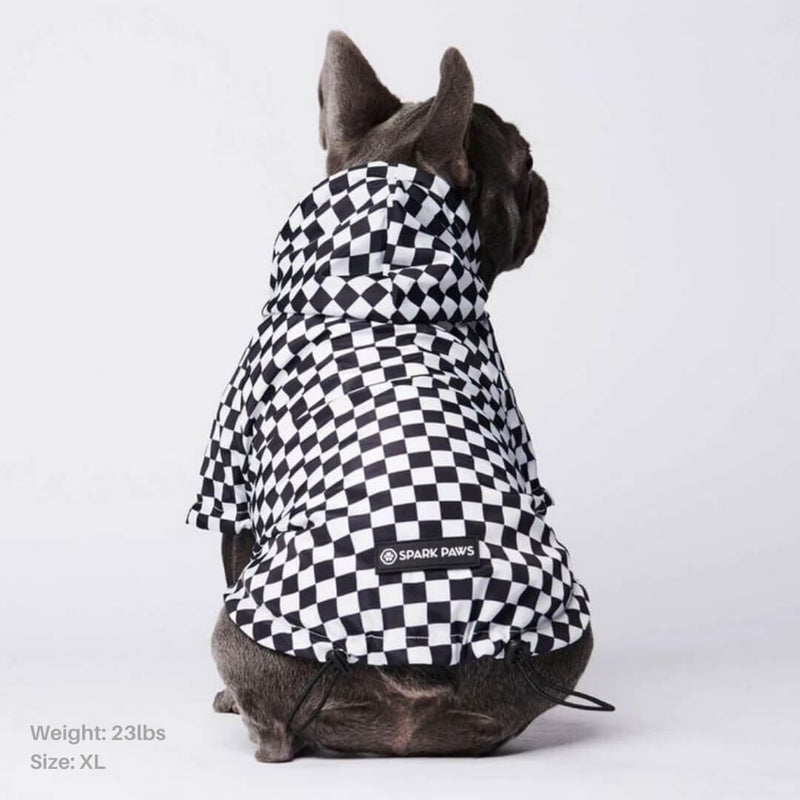 Checkered Flag Dog Raincoat