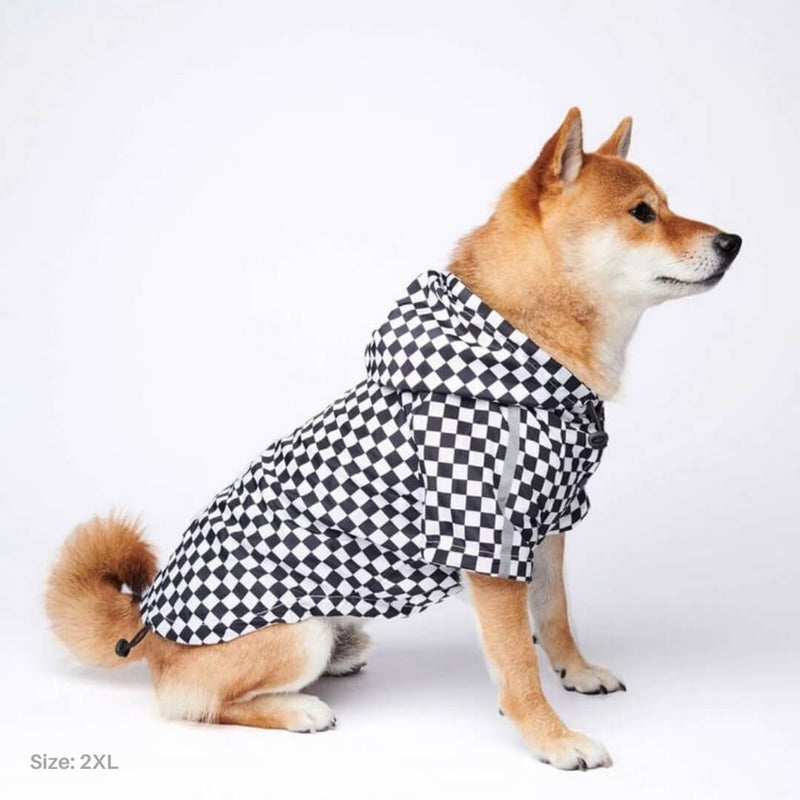 Classic Checkered Dog Windbreaker