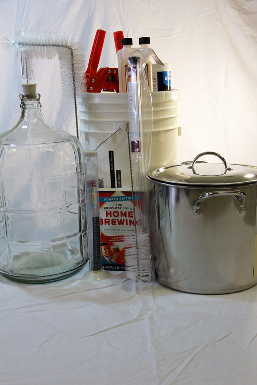 Complete Starter Kit (2 Stage w/kettle) w/Glass Carboy