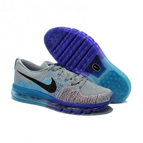 new concept 97b26 c04d6 NIKE AIR MAX FLYKNIT GRISES Y AZULES