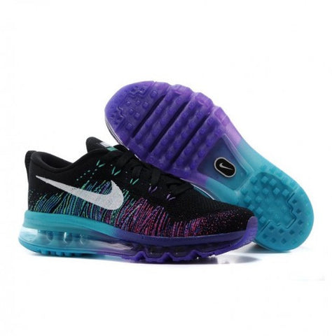 release date 7d460 4069b NIKE AIR MAX FLYKNIT NEGRAS AZULES Y LILAS
