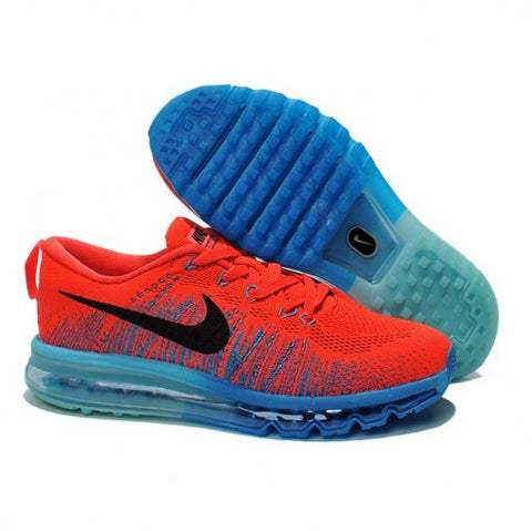 new arrival abc7a 99892 NIKE AIR MAX FLYKNIT ROJAS Y AZULES