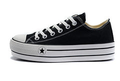 Converse All Star Low plataforma negras - NIKEALWAYS