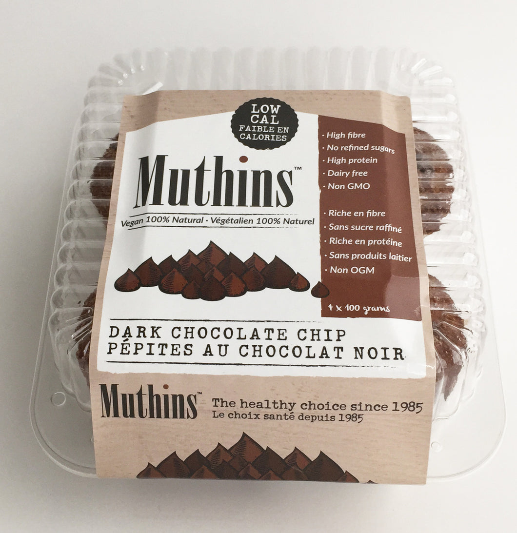 Chocolate Vegan Muthins 4-pack (10/case)