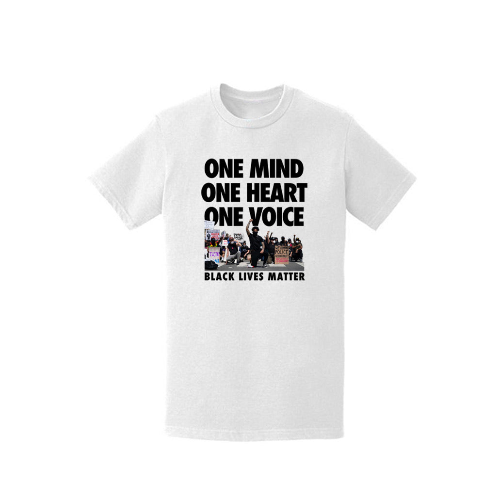 "Enemies Forever ""One Mind, One Heart, One Voice"" T shirt (White)"