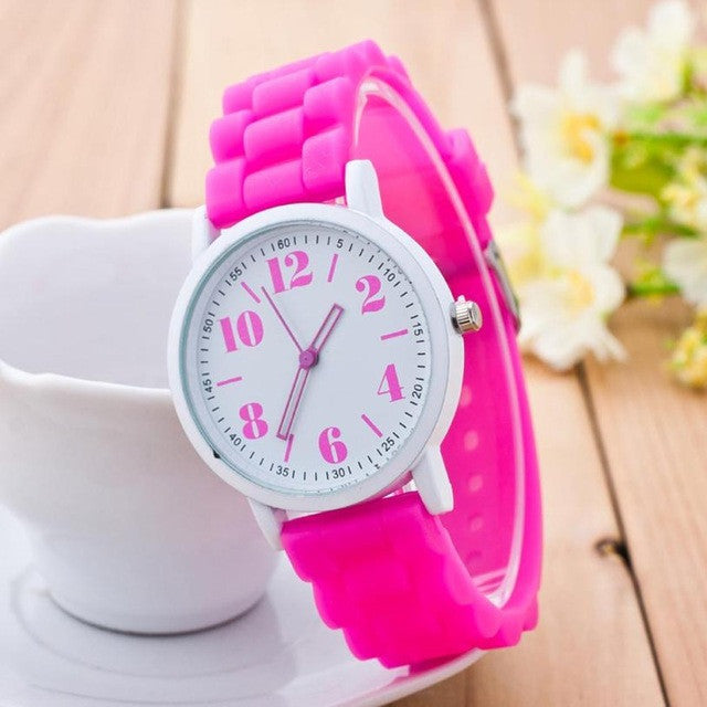 c01df2a9fa53 ... 2017 New Arriva Women Silicone Watch For Students Girls Quartz Watches  Reloj Pulsera Mujer Analog Sports ...