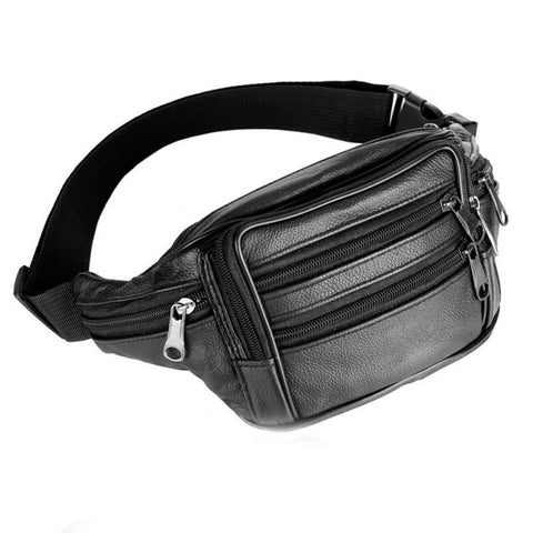 Men Leather waist bags Bum Adjustable Belt Bag small mens waist bags leather Travel Hip Purse #5M